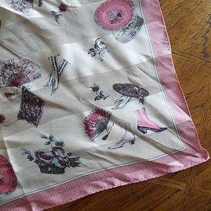 Vintage Printed Silk Scarf